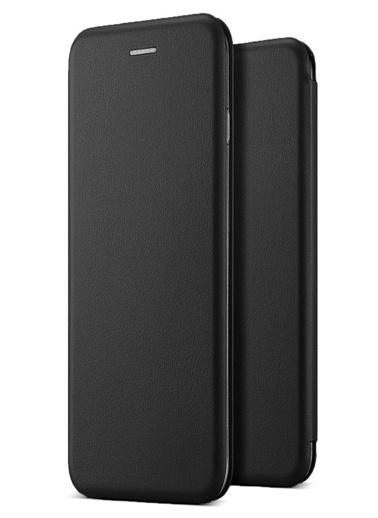 Microsonic Xiaomi Mi A1 Kılıf Ultra Slim Leather Design Flip Cover Siyah Siyah